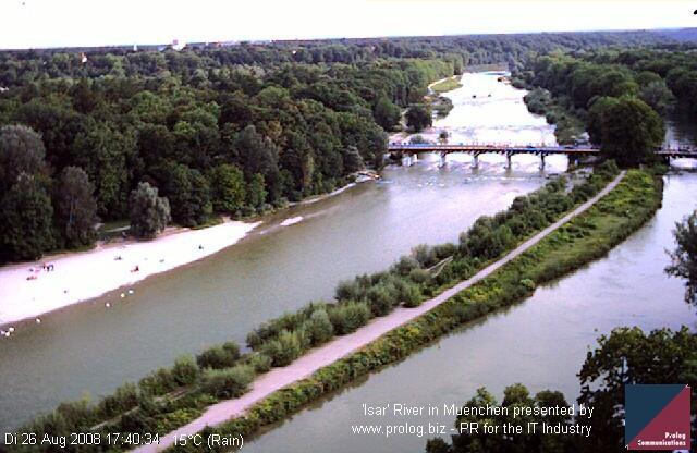 Уеб Камера Река 'Isar', Мюнхен , Мюнхен, Германия