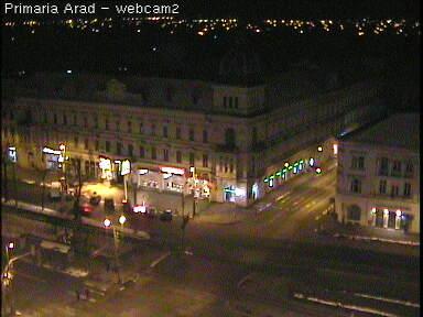 Уеб Камера Площада пред администрацията на град Арад , Румъния , Арад, Румъния