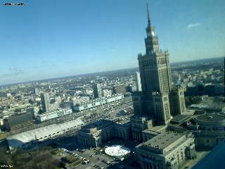 Уеб Камера Варшава - изглед на югоизток , Варшава, Полша