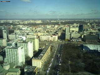 Уеб Камера Варшава - изглед на изток , Варшава, Полша